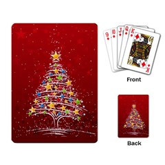 Colorful Christmas Tree Playing Card