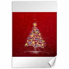 Colorful Christmas Tree Canvas 24  x 36