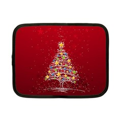 Colorful Christmas Tree Netbook Case (Small)