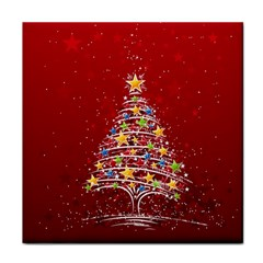 Colorful Christmas Tree Face Towel