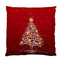Colorful Christmas Tree Standard Cushion Case (Two Sides)