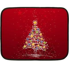 Colorful Christmas Tree Double Sided Fleece Blanket (Mini)