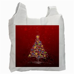 Colorful Christmas Tree Recycle Bag (One Side)