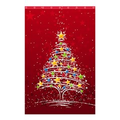 Colorful Christmas Tree Shower Curtain 48  x 72  (Small)