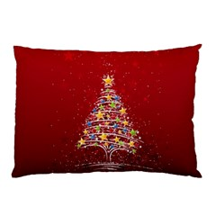 Colorful Christmas Tree Pillow Case (Two Sides)