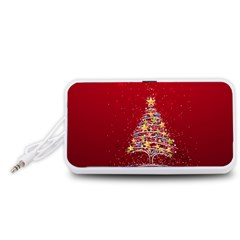 Colorful Christmas Tree Portable Speaker (White)