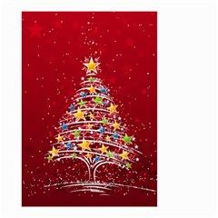 Colorful Christmas Tree Small Garden Flag (Two Sides)