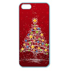 Colorful Christmas Tree Apple Seamless iPhone 5 Case (Color)