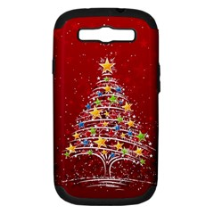 Colorful Christmas Tree Samsung Galaxy S III Hardshell Case (PC+Silicone)