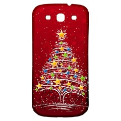 Colorful Christmas Tree Samsung Galaxy S3 S III Classic Hardshell Back Case