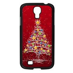 Colorful Christmas Tree Samsung Galaxy S4 I9500/ I9505 Case (Black)