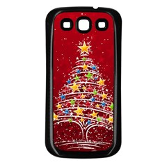Colorful Christmas Tree Samsung Galaxy S3 Back Case (Black)
