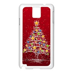 Colorful Christmas Tree Samsung Galaxy Note 3 N9005 Case (White)