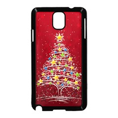 Colorful Christmas Tree Samsung Galaxy Note 3 Neo Hardshell Case (Black)