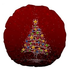 Colorful Christmas Tree Large 18  Premium Flano Round Cushions