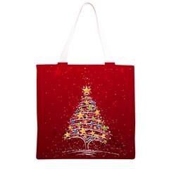 Colorful Christmas Tree Grocery Light Tote Bag