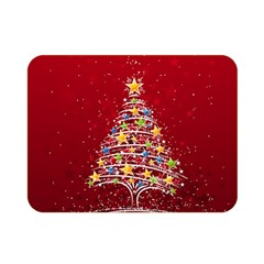 Colorful Christmas Tree Double Sided Flano Blanket (Mini)