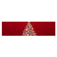 Colorful Christmas Tree Satin Scarf (Oblong)