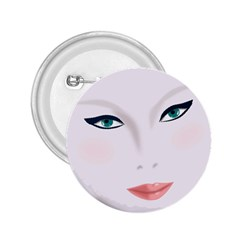 Face Beauty Woman Young Skin 2.25  Buttons