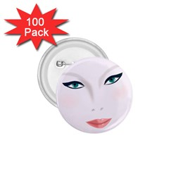 Face Beauty Woman Young Skin 1.75  Buttons (100 pack)