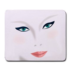 Face Beauty Woman Young Skin Large Mousepads