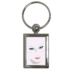 Face Beauty Woman Young Skin Key Chains (Rectangle)
