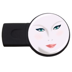 Face Beauty Woman Young Skin USB Flash Drive Round (1 GB)