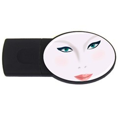 Face Beauty Woman Young Skin USB Flash Drive Oval (1 GB)