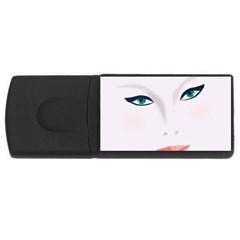 Face Beauty Woman Young Skin USB Flash Drive Rectangular (1 GB)