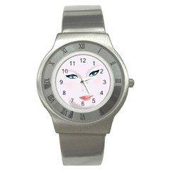 Face Beauty Woman Young Skin Stainless Steel Watch