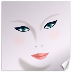 Face Beauty Woman Young Skin Canvas 12  x 12
