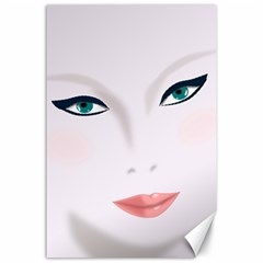 Face Beauty Woman Young Skin Canvas 24  x 36