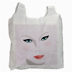 Face Beauty Woman Young Skin Recycle Bag (Two Side)