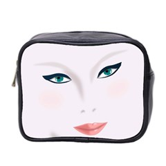 Face Beauty Woman Young Skin Mini Toiletries Bag 2-Side