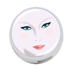Face Beauty Woman Young Skin 4-Port USB Hub (One Side)