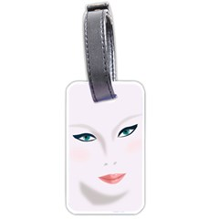 Face Beauty Woman Young Skin Luggage Tags (Two Sides)