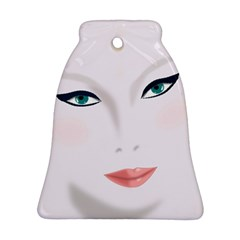 Face Beauty Woman Young Skin Bell Ornament (2 Sides)