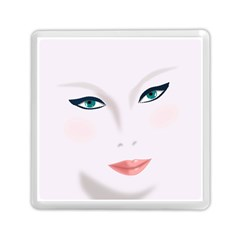 Face Beauty Woman Young Skin Memory Card Reader (Square)