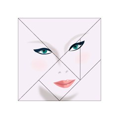 Face Beauty Woman Young Skin Acrylic Tangram Puzzle (4  x 4 )