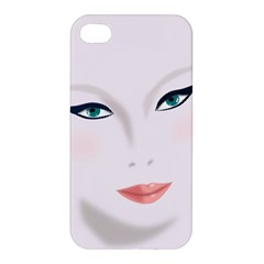 Face Beauty Woman Young Skin Apple iPhone 4/4S Premium Hardshell Case
