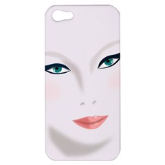 Face Beauty Woman Young Skin Apple iPhone 5 Hardshell Case