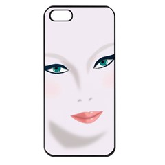 Face Beauty Woman Young Skin Apple iPhone 5 Seamless Case (Black)
