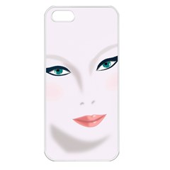 Face Beauty Woman Young Skin Apple iPhone 5 Seamless Case (White)