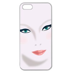 Face Beauty Woman Young Skin Apple Seamless iPhone 5 Case (Clear)