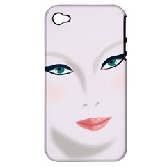 Face Beauty Woman Young Skin Apple iPhone 4/4S Hardshell Case (PC+Silicone)