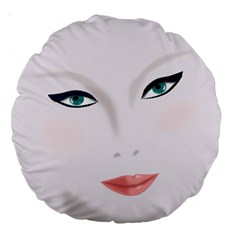 Face Beauty Woman Young Skin Large 18  Premium Round Cushions