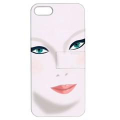 Face Beauty Woman Young Skin Apple iPhone 5 Hardshell Case with Stand