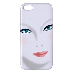 Face Beauty Woman Young Skin Apple iPhone 5 Premium Hardshell Case