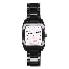 Face Beauty Woman Young Skin Stainless Steel Barrel Watch