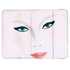Face Beauty Woman Young Skin Samsung Galaxy Tab 7  P1000 Flip Case